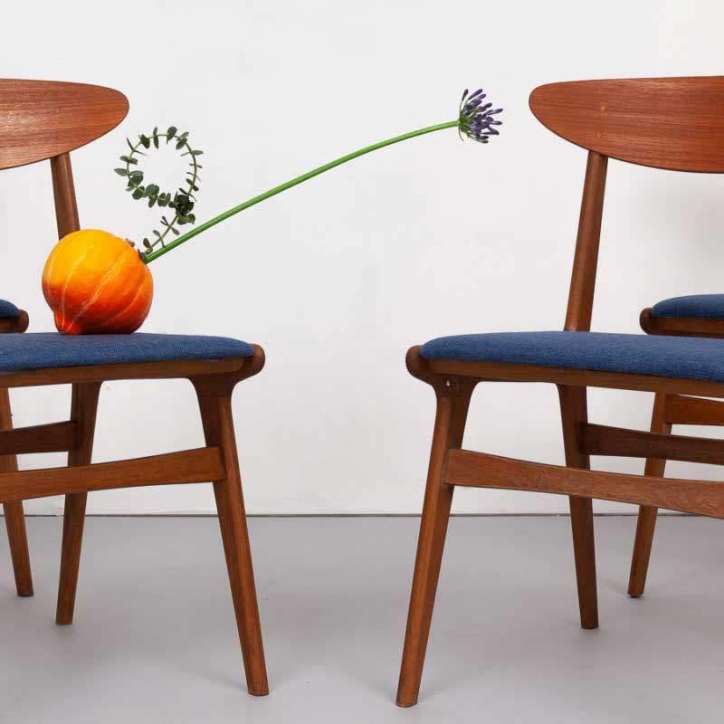 4er Set Teak Stühle
