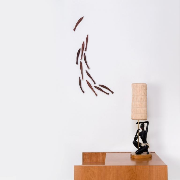 Wanddekoration – Fischschwarm