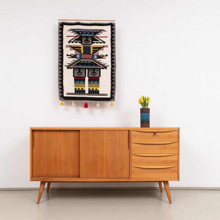 Kleines 50er Jahre Nussbaum Sideboard