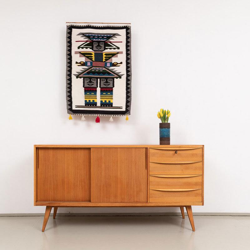 50er Jahre Nussbaum Sideboard 01