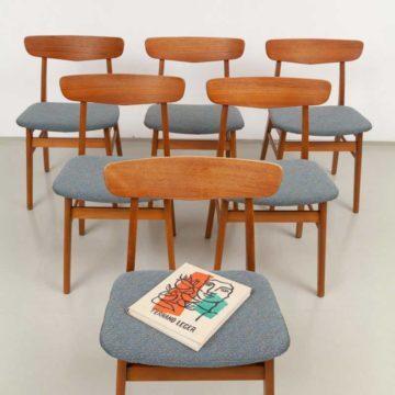 Farstrup Teak Stühle 60er Jahre