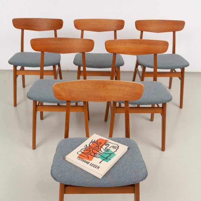 Farstrup Teak Stühle, Dänemark, ickestore