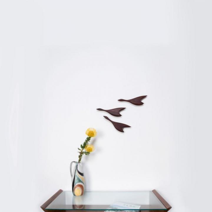 Wanddekoration – Kleine Enten Gruppe