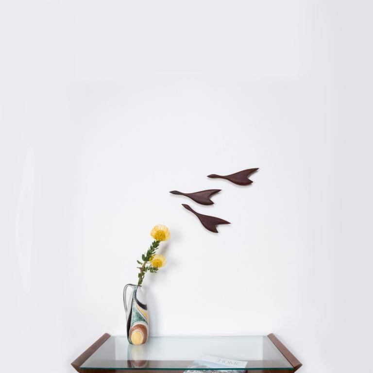 Wanddekoration - Kleine Entengruppe