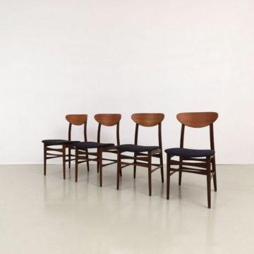 60er Jahre Set Teak Stühle