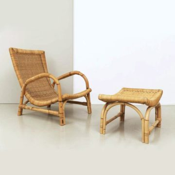 60er Jahre Bambus Sessel