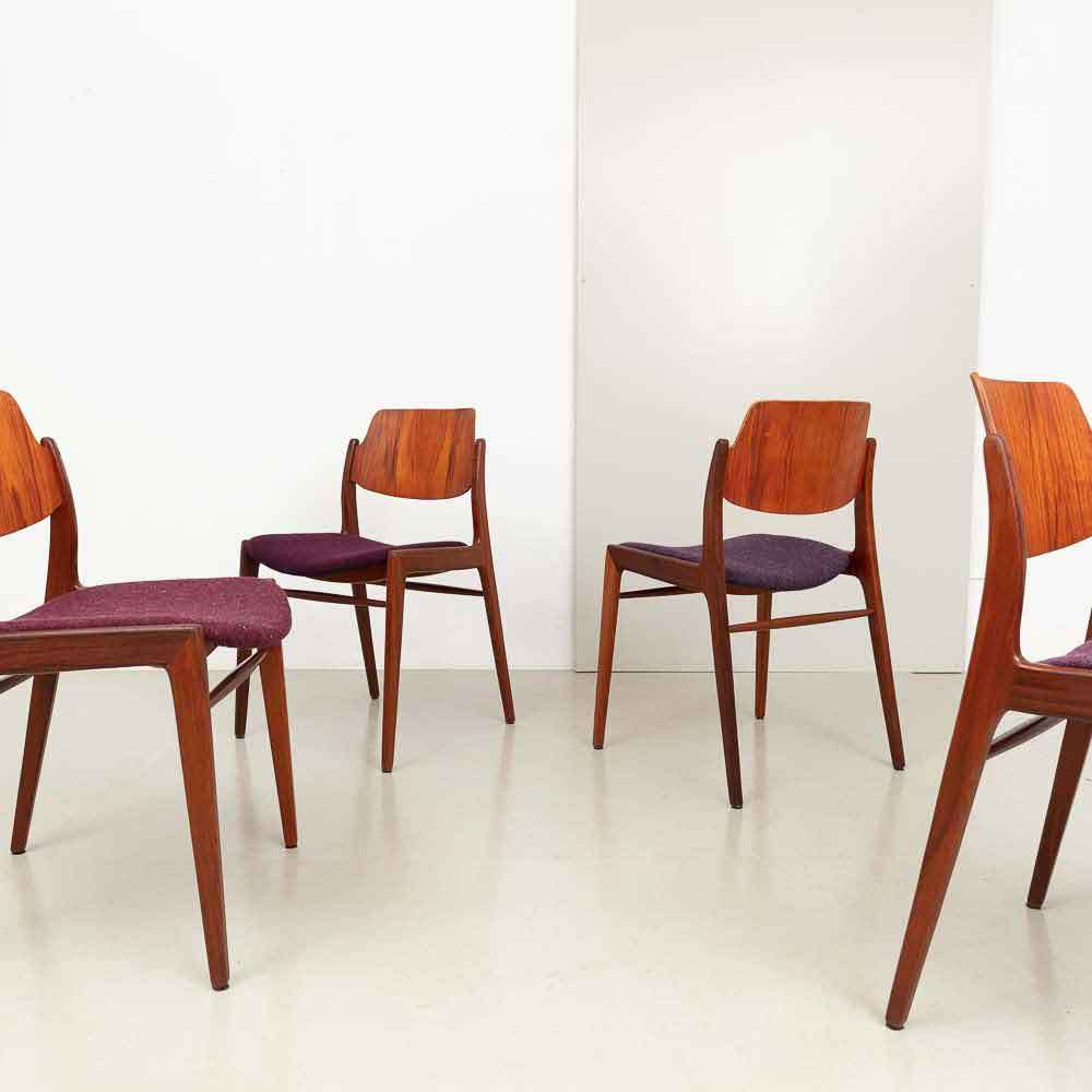 Hartmut Lohmeyer Teak Stühle für Wilkhahn 60er Jahre