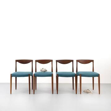 Palisander Esszimmer-Stühle, 60er Jahre, Mid-century