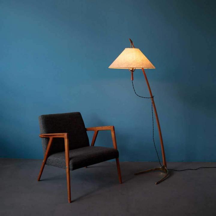 Kalmar Dornstab Stehlampe Teak