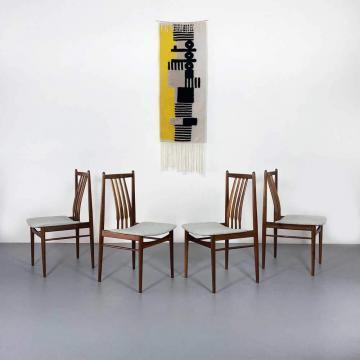 Teak Esszimmerstühle, 60er Jahre, Designklassiker