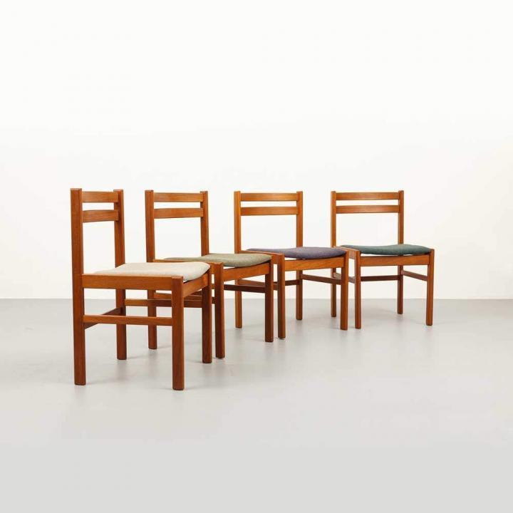 Teak Stühle Mid-century Modern 4er Set