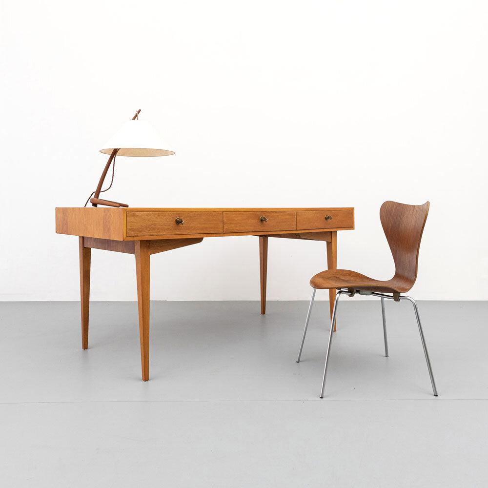 Kirschholz Schreibtisch, 60er Jahre, ickestore