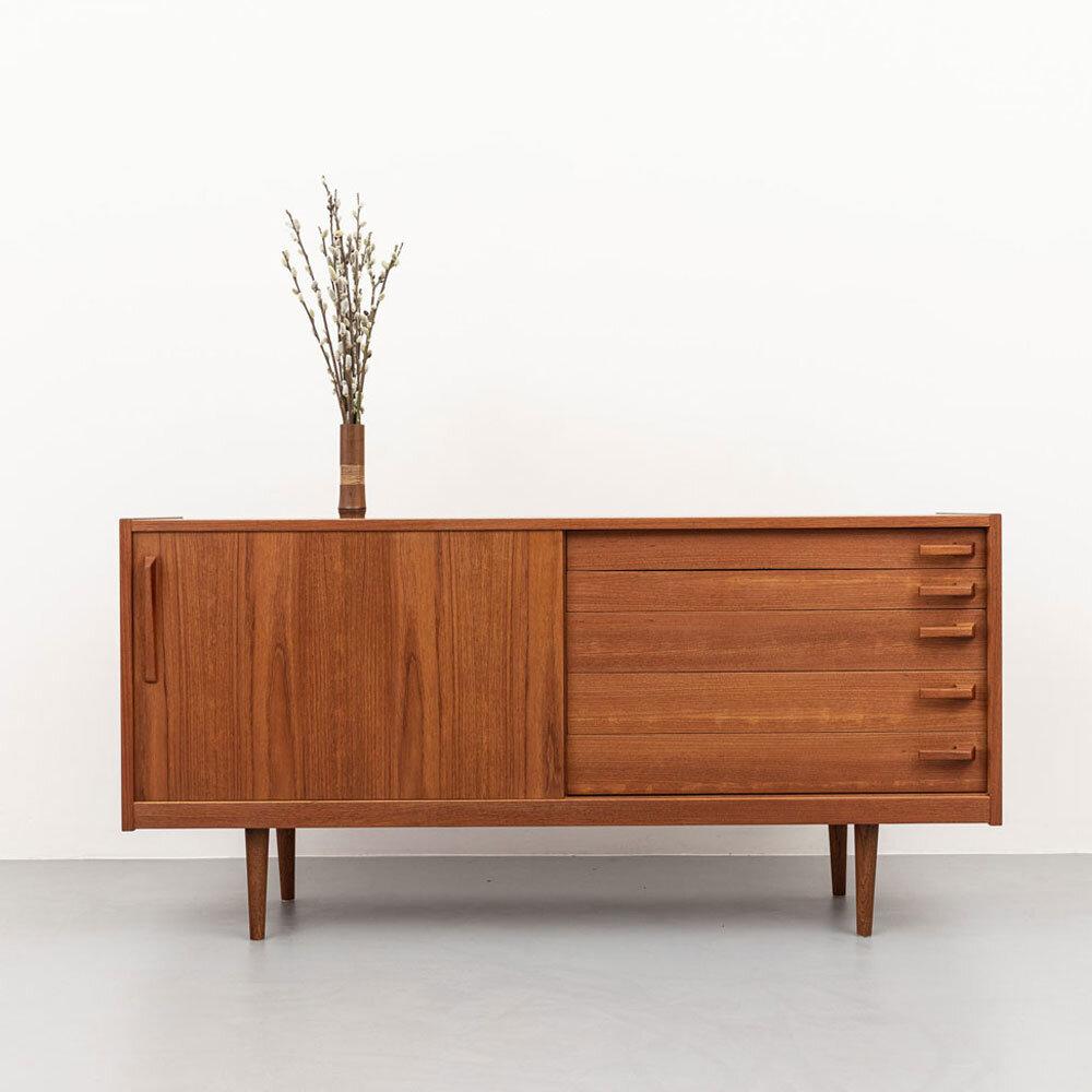 Teak Sideboard, 60er Jahre, Yngve Ekström, ickestore