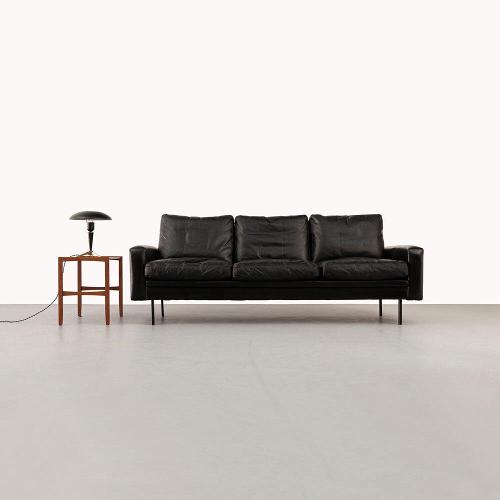 60er Jahre Leder Sofa, ickestore