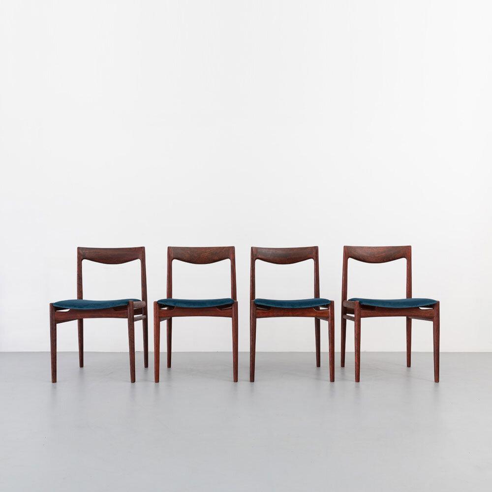 Palisander Esszimmerstühle, 60er Jahre