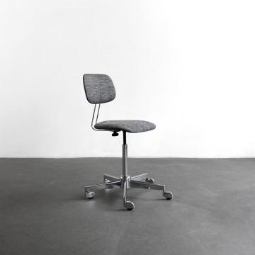 Bürorodrehstuhl, Mid-century, Chrom
