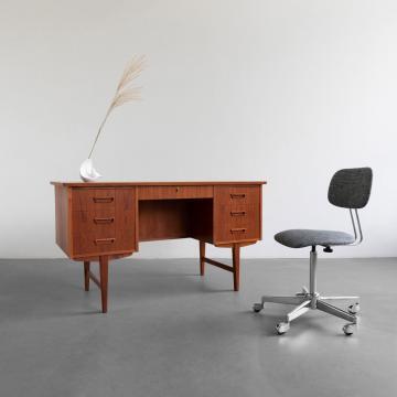 Dänischer Teakholz Schreibtisch
