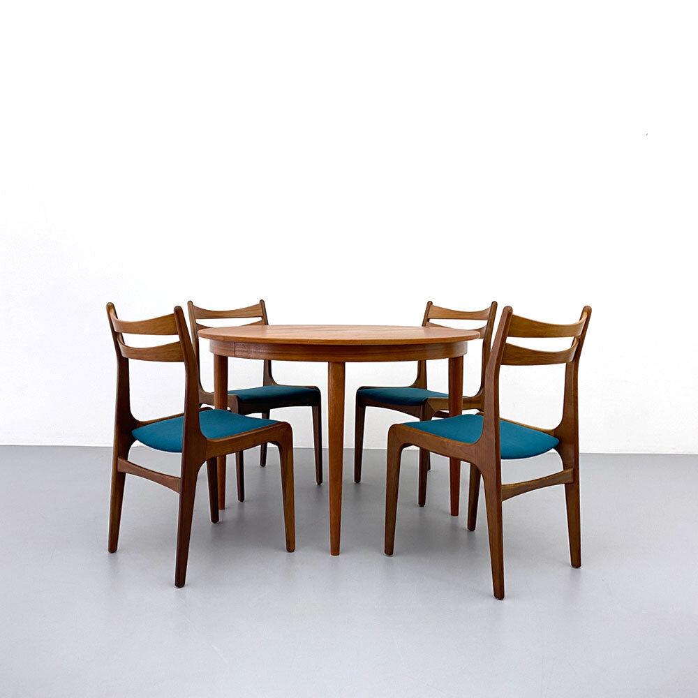 Teak Stühle, Set, 60er Jahre