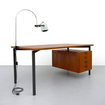 50er Jahre Teak Schreibtisch