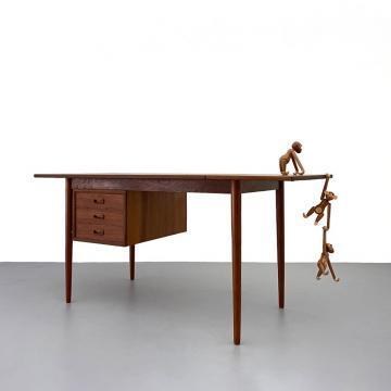 Teak Schreibtisch, Arne Vodder