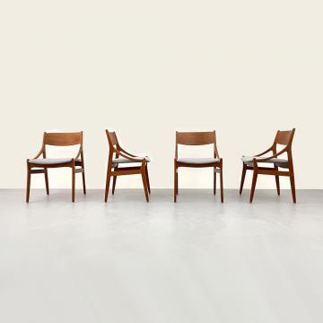 Teak Stühle, 60er Jahre, Vestervig, Eriksen, ickestore